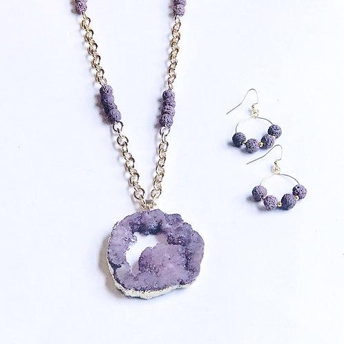 Purple Druzy Set