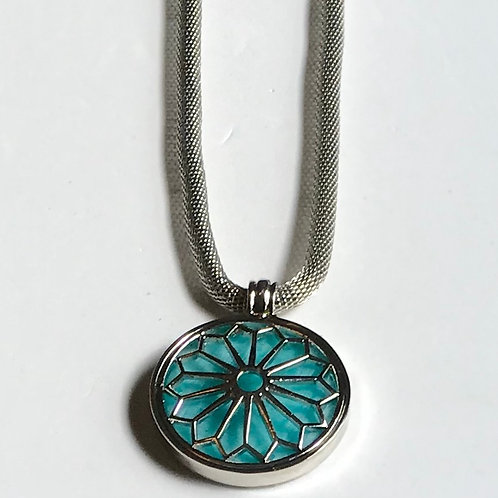 Reversible Teal Mesh Necklace