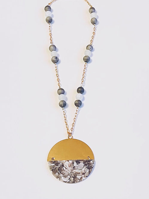 Marble Acetate Necklace