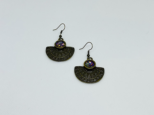 Tribal Resin Earrings
