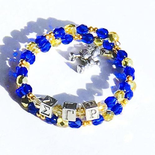 Sigma Gamma Rho Greek Letter Bracelet
