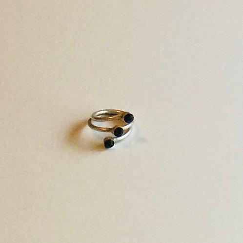 Black Rhinestone Ring