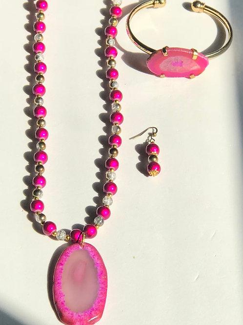 Pink Agate Set