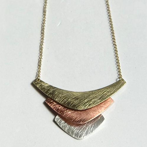 Tri-Color Chevron Necklace