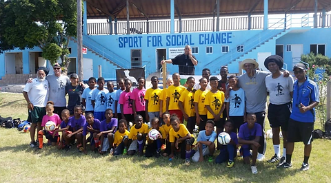 My yute soccer visited Treasure Beach Sp