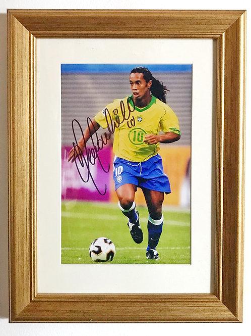Ronaldinho Signed Photo