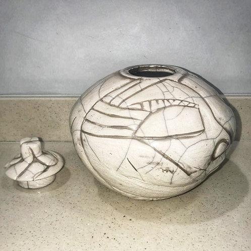 Pearson Raku Lidded Bowl