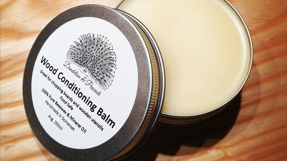 Wood Conditioning Balm Extra Large 250ml, Board Wax, Beeswax Polish