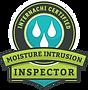 Compass Home Inspectors are Certified Moisture Intrusion Inspectors