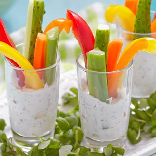 Vegetables Sticks with Dressing