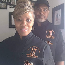 Kevin and Marlene, owners of K&M Salmon Balls and Cakes