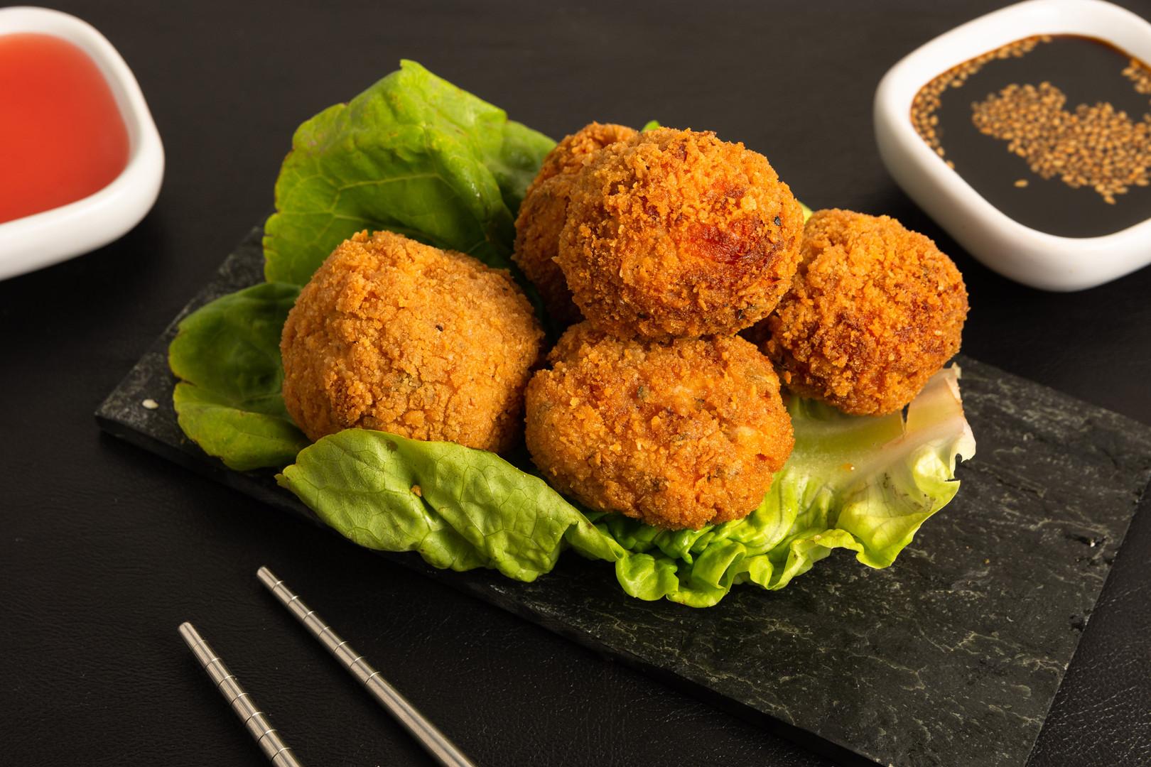 Golden Fried Salmon Balls