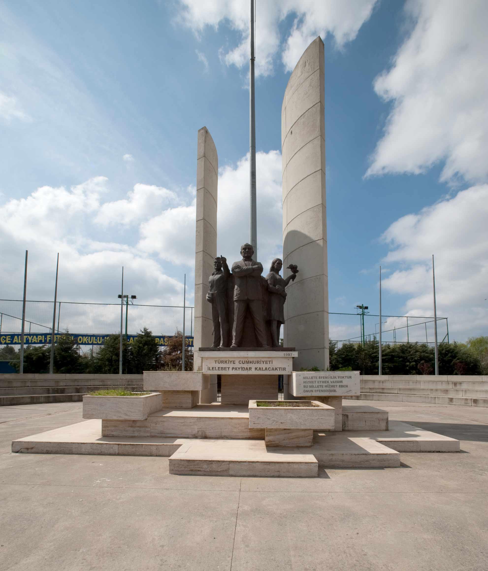 1996--Büyükçekmece-Atatürk-Anıtı