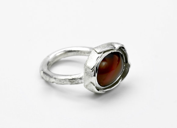 Scottish Agate Oval Ring
