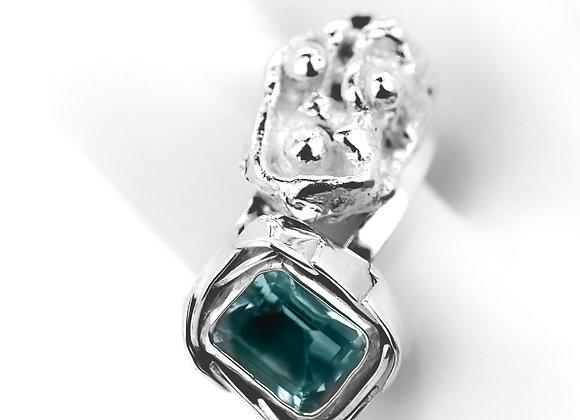 Blue Topaz Ring & Sculpture - Twin
