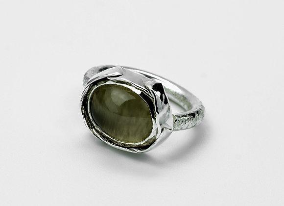 Olive Oval Moonstone