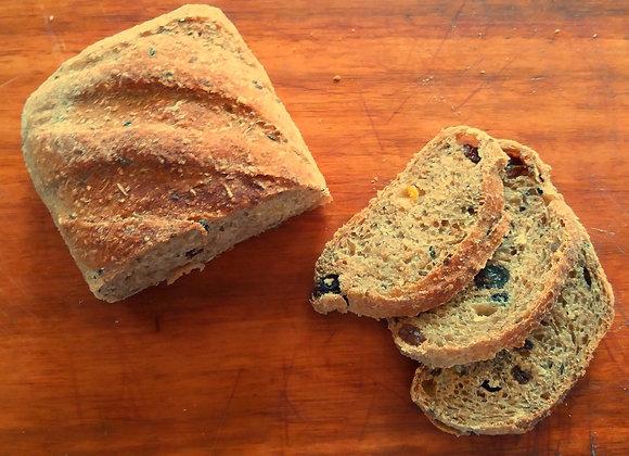 Pão integral com frutas secas 500g