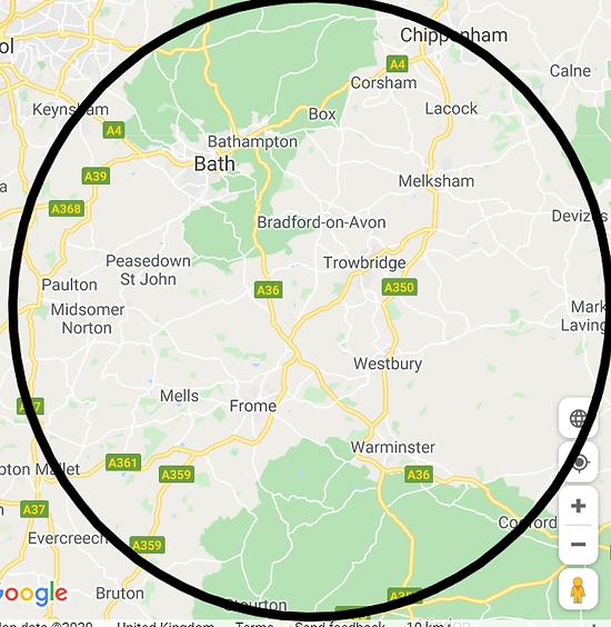 Bath, Trowbridge, Westbury, Warminster,