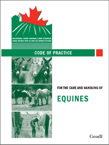 Code of Practice for the Care and Handling of Equines