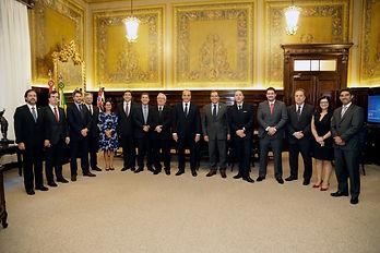 Dr. Flavio Paschoa em reunião com o Presidente e o Corregedor do Tribunal de Justiça de São Paulo.