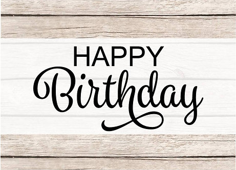 Grussanhänger **Happy Birthday**