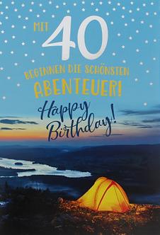 **Zum 40. Geburtstag**
