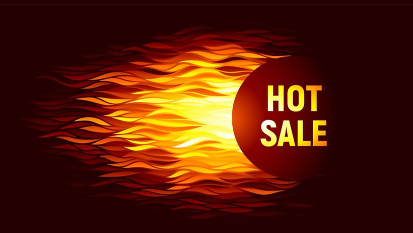hot-sale-offer-on-fire-background-vector