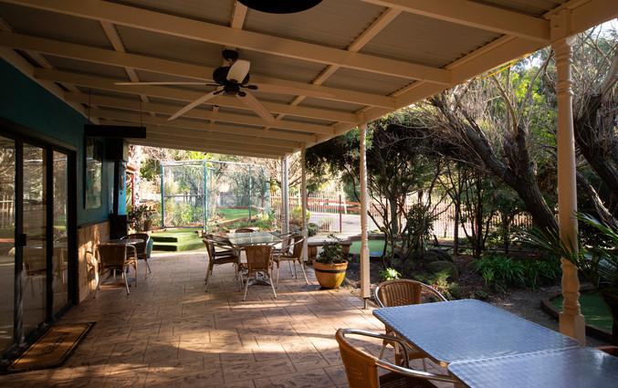 Adventure Café terrace
