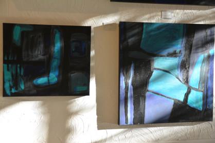 Joans Blue paintings