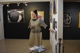 Amber Noseda introducing her work