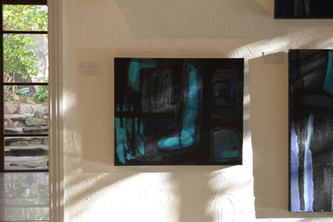 Blue paintings in the light