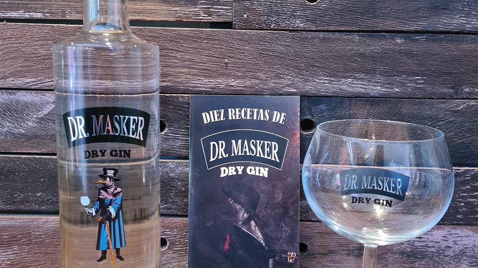 Pack Lanzamiento Gin Dr. Masker 750cc mas copa