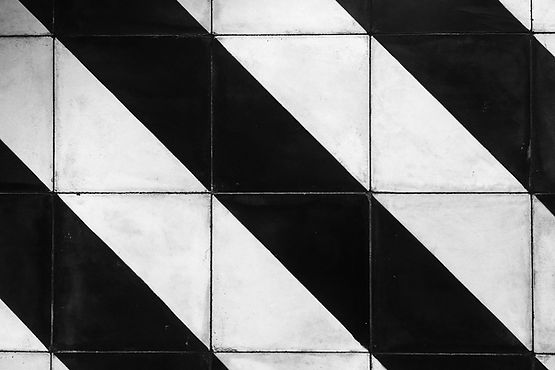 Striped wall tile