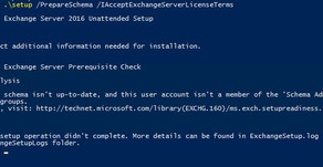 """Quick Tip- Error Installing Exchange Server 2016, """"this user isn't a member of the 'Schema/Ente"""
