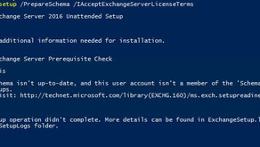 "Quick Tip- Error Installing Exchange Server 2016, ""this user isn't a member of the 'Schema/Ente"