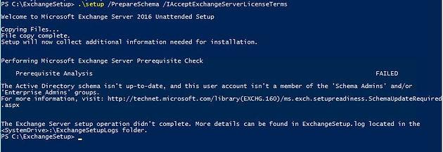 "Quick Tip- Error Installing Exchange Server 2016, ""this user"