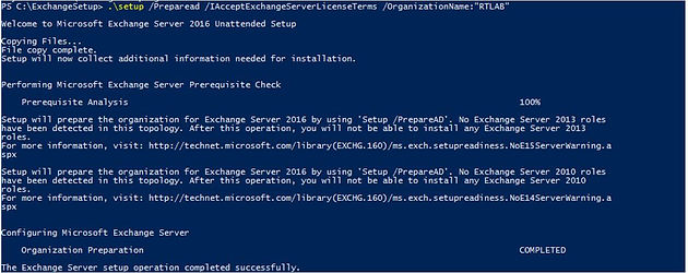Exchange Server 2016 Installation - Step by Step on windows