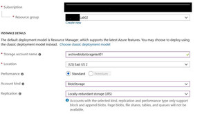 Azure Archive Blob Storage