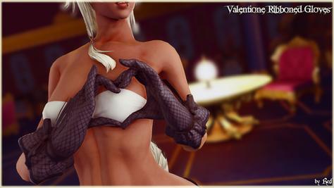 Valentione Ribboned Gloves (Bibo+)