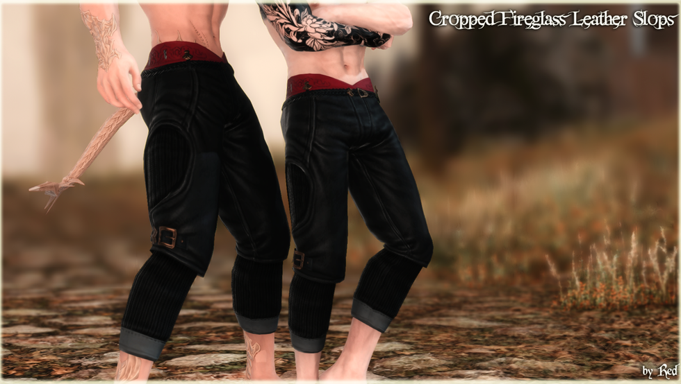 Cropped Fireglass Leather Slops (TB2.0)