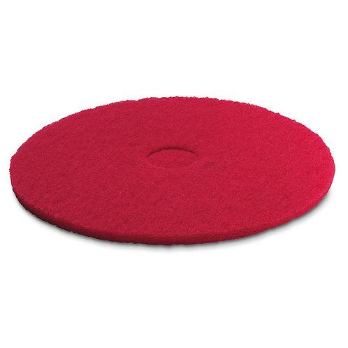 ケルヒャー 送料無料 パッド,ミディアムソフト,赤,381 mm 63697910