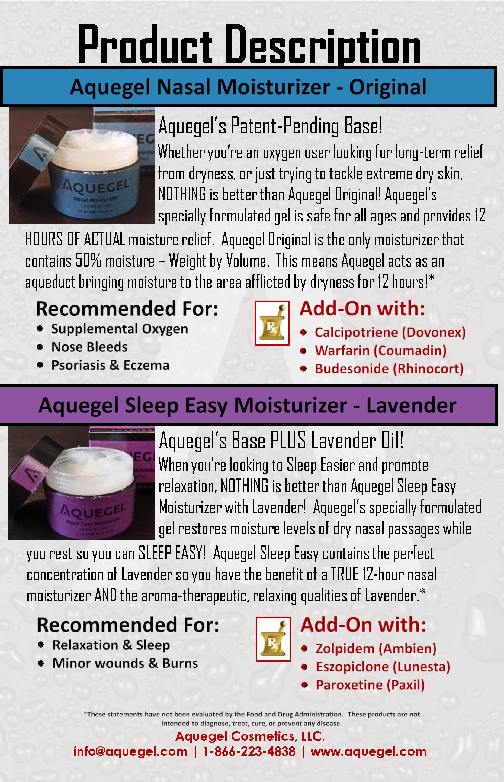 Aquegel Original & Lavender