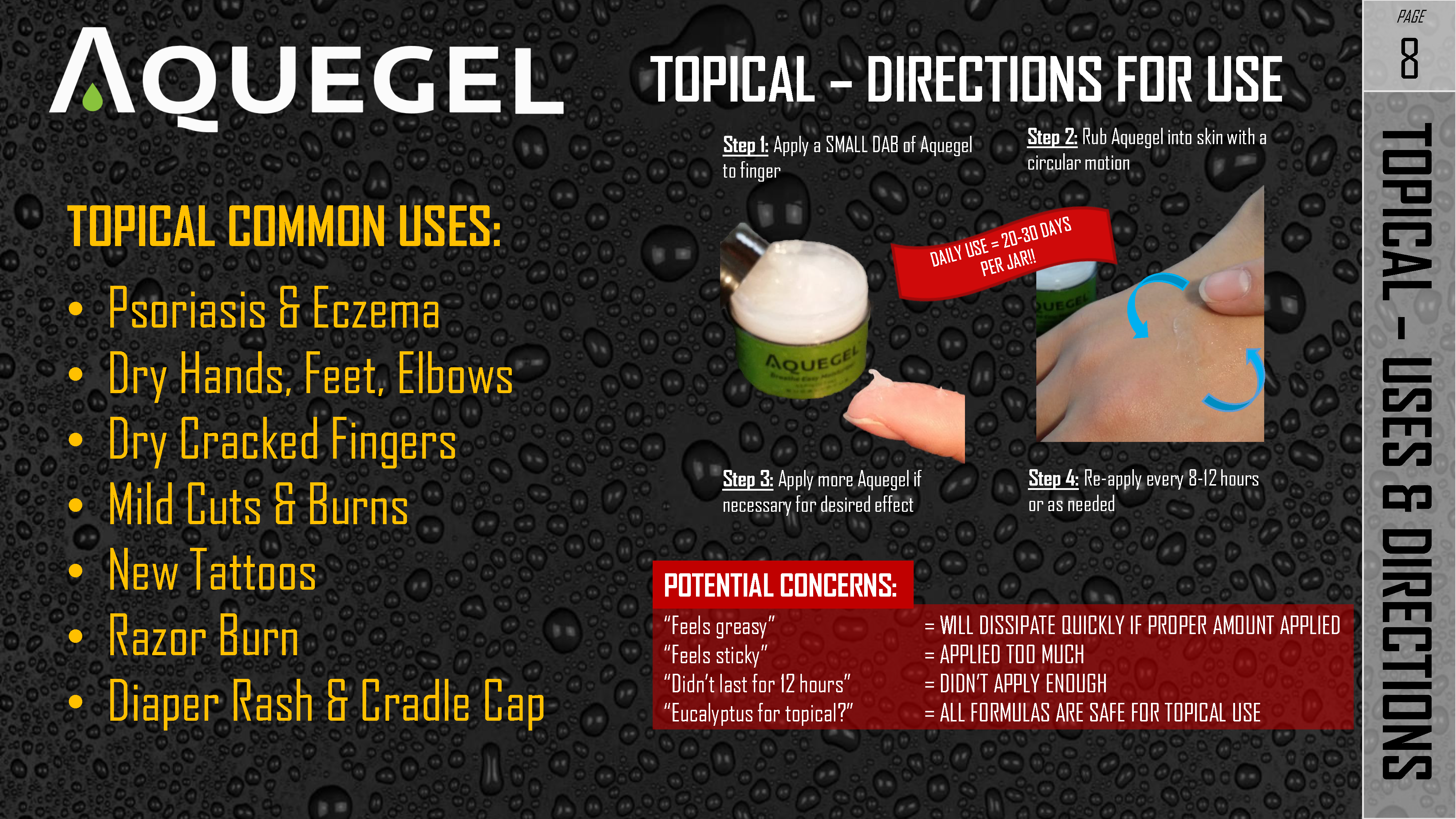 TOPICAL - USES DIRECTIONS - 8