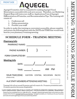 Training Meeting Schedule Form - 5
