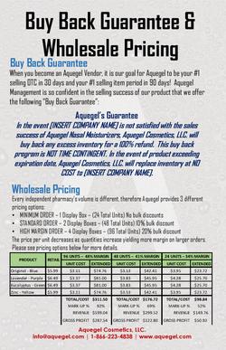 Buy Back Guarantee & Wholesale Price