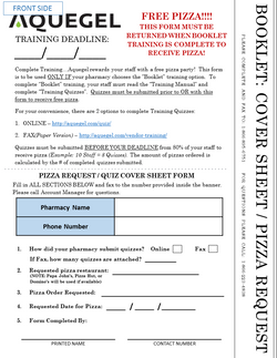 Booklet Cover Sheet/Pizza Request -6