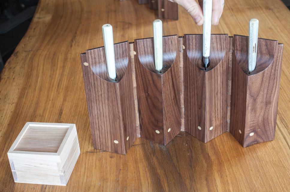 bloodroot box(4) walnut quad box (4 of 6