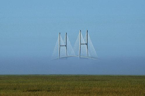 Sidney Lanier Bridge in Fog