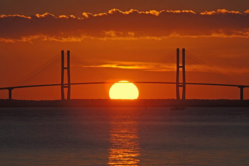 Sidney Lanier Bridge at Sunset
