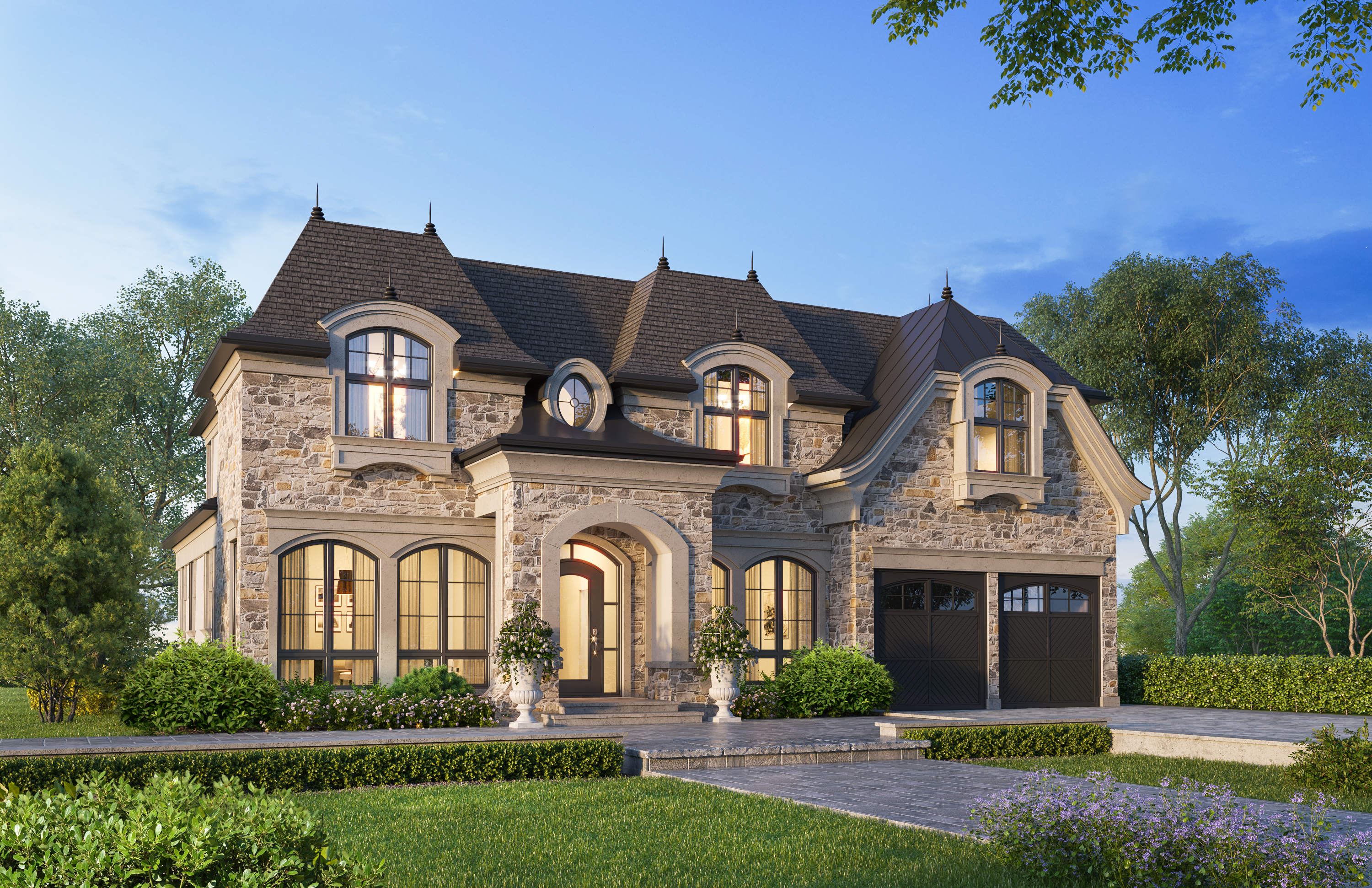 French provincial Custom Home